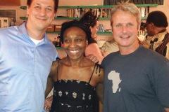 P. Misevich and K. Tuchscherer with Mahen Bonetti