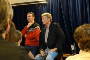 Fred Alpi and Marcus at Le Lieu Dit, Paris
